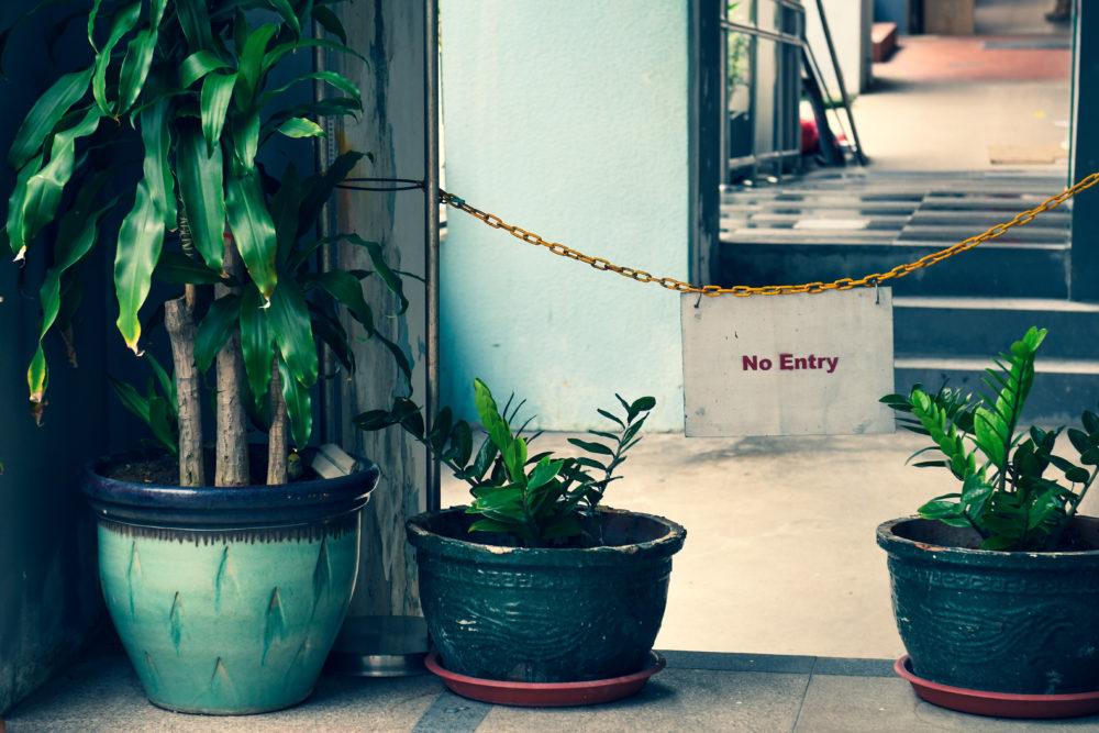 1. No entry sign